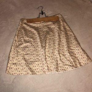 NWT American Threads satin floral skirt 💛